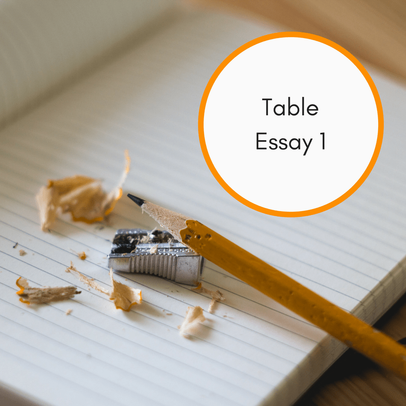 IELTS Writing Task 1 - Table Essay Example 1