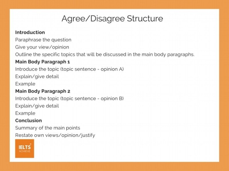 How To Write An Agree Or Disagree Essay