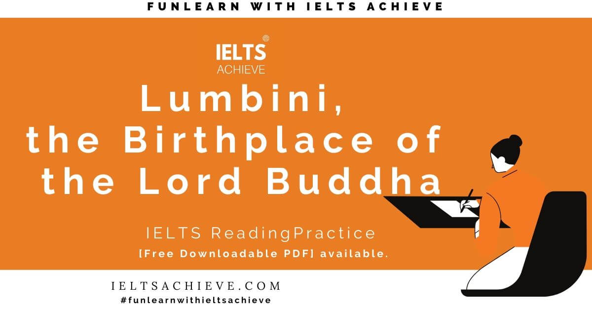 IELTS Practice Test Lumbini, the Birthplace of the Lord Buddha